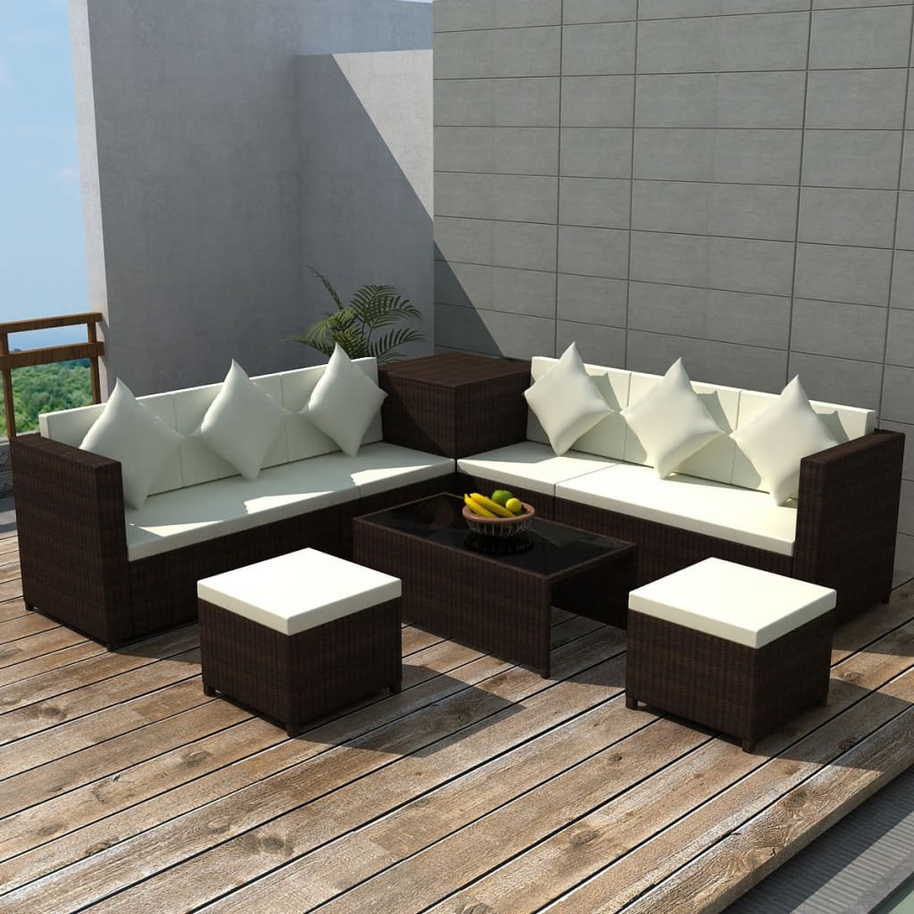 Rattan Garden Sofa Set Ebay Vidaxl 26pc Wicker Rattan Garden Outdoor Sofa Lounge