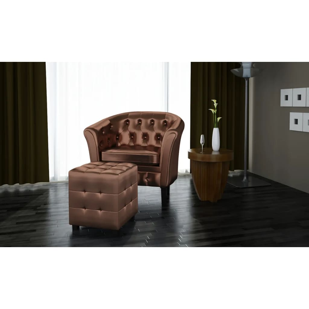 Chesterfield Sessel Günstig Chesterfield Leder Sessel Mit Hocker Bronze Günstig Kaufen