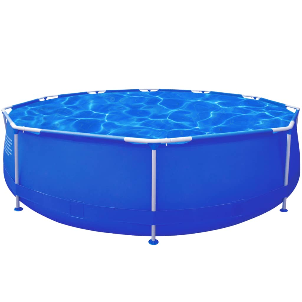 Pool Frame Rund New Above Ground Garden Swimming Pool Steel Frame Round
