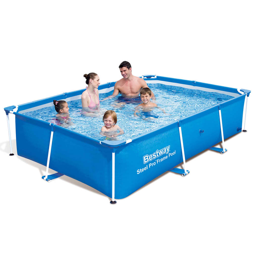 Bestway Pools The Range Bestway Steel Pro Rectangular Swimming Pool 259x170x61cm