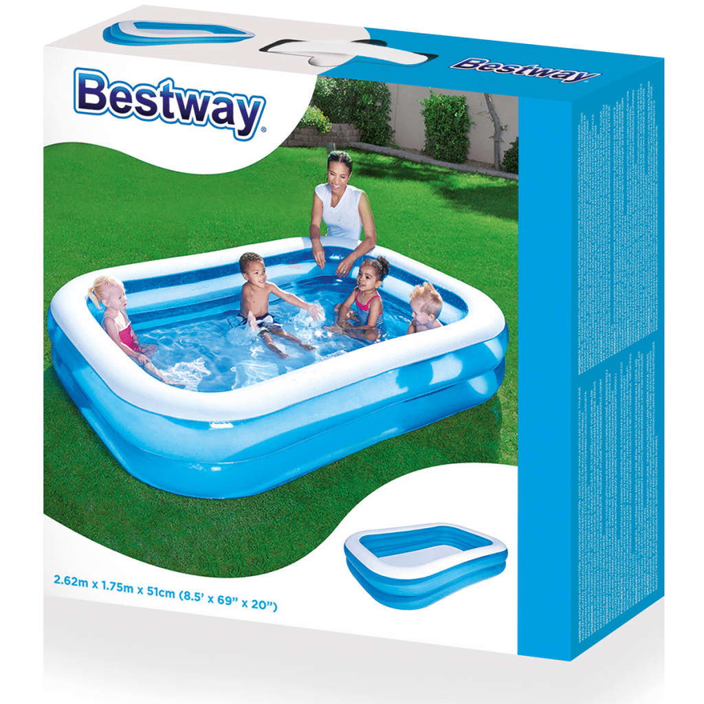 Bestway Pools The Range Bestway Inflatable Pool Blue White 262 X 175 X 51 Cm 54006