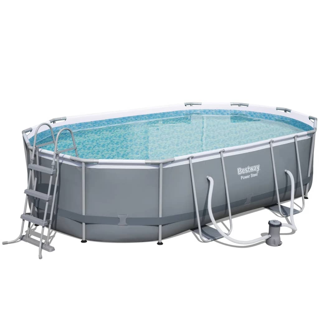 Bestway Pool Abdeckung Oval Shop Bestway Power Steel Oval Swimmingpoolsæt 488 X 305 X
