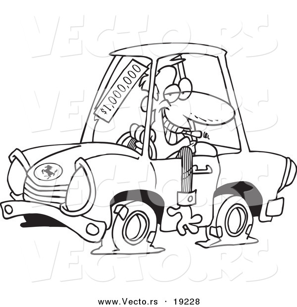salesman auto electrical wiring diagramvector of a cartoon deceptive car salesman