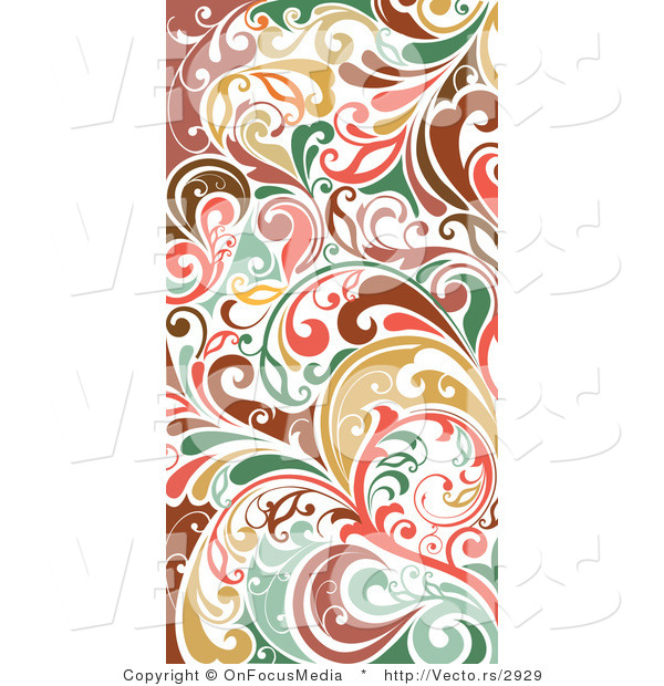 Vector of Colorful Vertical Flourish Border Border Background Design - vertical designs