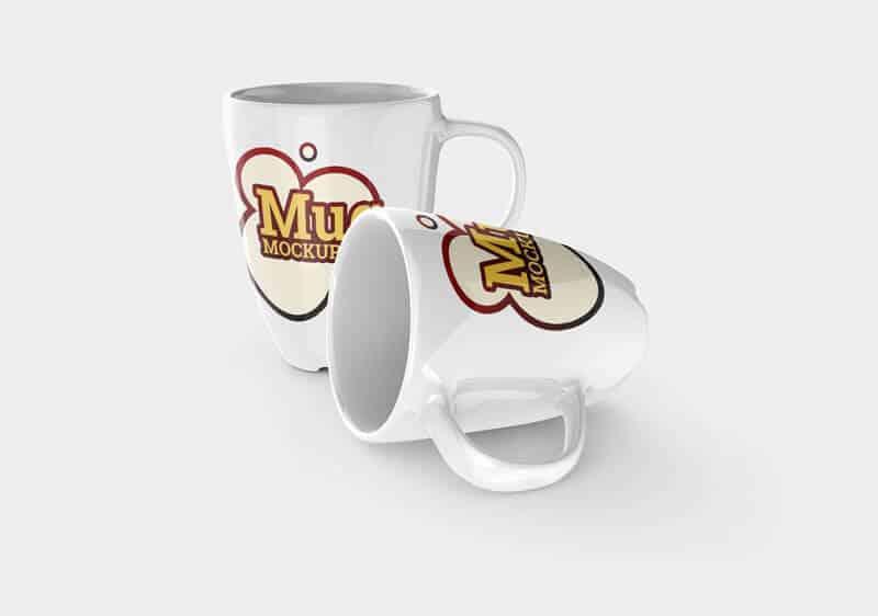 Various mug mockup templates on Vectogravic Design