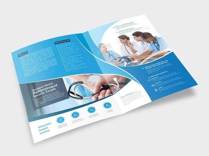 Editable Healthcare Brochure Template on Vectogravic Design - healthcare brochure