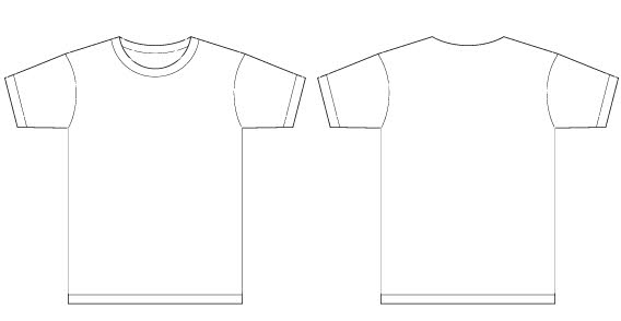 Free download of Men t-shirt template free vector Vector Graphic - t shirt template