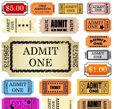 Printable Admit One Ticket Vector - Download 1,000 Vectors (Page 1) - admit one ticket template