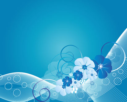Free download of Simple Blue Floral background Vector Graphic