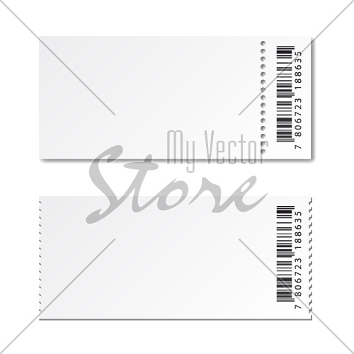 blank white paper ticket vector - Illustration #4054 - My Vector Store