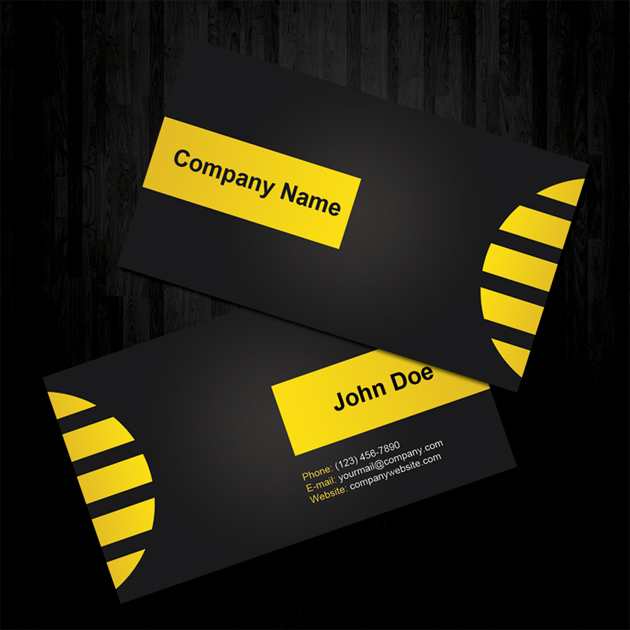 Yellow Beautiful Business Cards Unique Business Cards