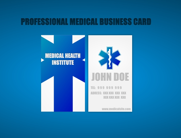 Two-Sided Medical Business Card Unique Business Cards - medical business card templates