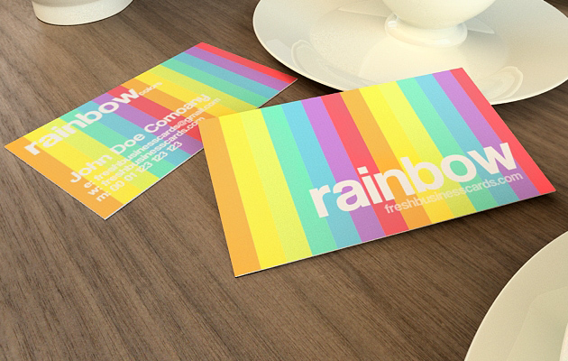 Rainbow Business Card Template Unique Business Cards