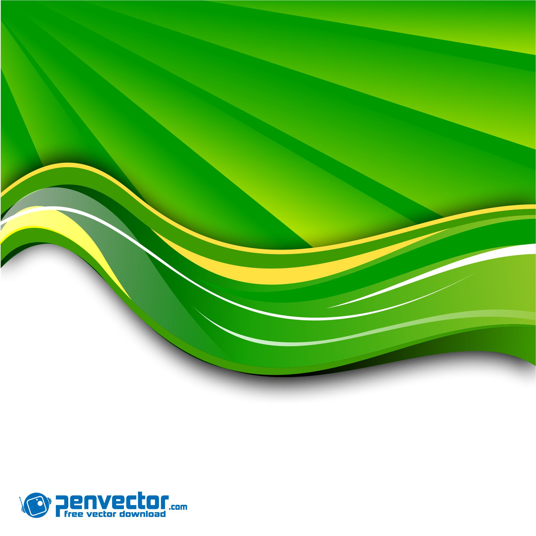 Android 3d Wallpaper Tutorial Spring Green Wave Background Free Vector Vectorpic