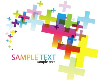 Abstract Cross Background Card