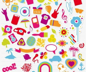 Freebies Cute Retro Stickers