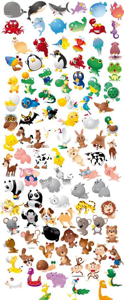 Cute Elephant Design Wallpaper Animal Icon Set Funny Cartoon Graphics
