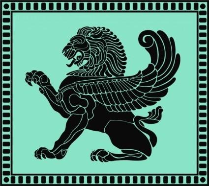 Wallpaper Predator 3d Vector Ancient Lion Shield Vector Art Ai Svg Eps