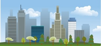New 3d Hd Wallpaper Free Download Vector City Skyline Vector Clip Art Ai Svg Eps Vector