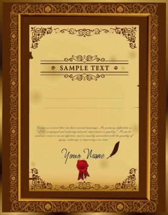 The Certificate Template Design Vector - Ai, Svg, Eps Vector Free - certificate design format