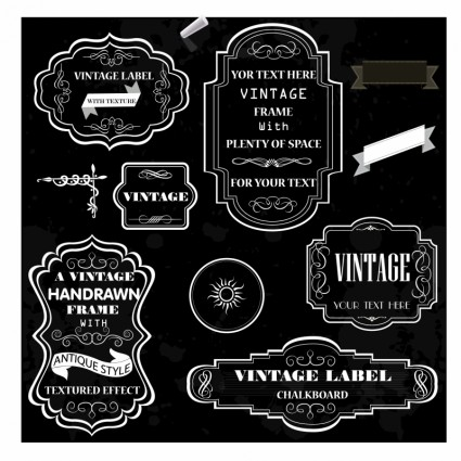 3d Wallpaper Ideas Chalk Frames Vector Labels Sticker Ai Svg Eps Vector