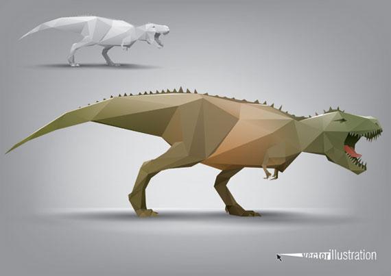 Cartoon Animation Wallpaper Free Download Dinosaur Triangle Polygon Model Vector Ai Svg Eps