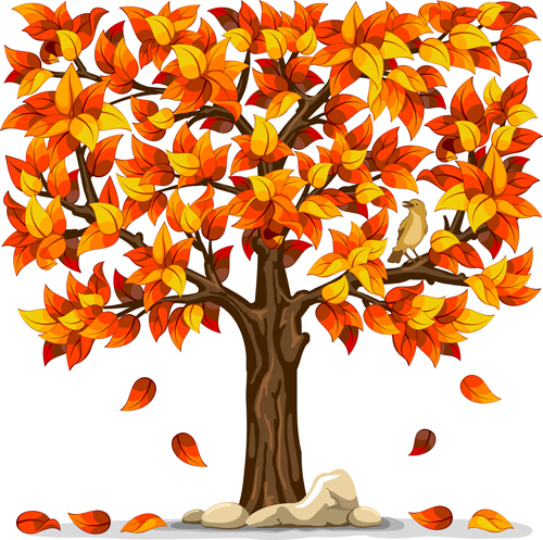 Free Animal Wallpaper Download Autumn Tree Vector Art Ai Svg Eps Vector Free Download