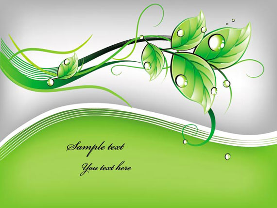 Green leaf template vector art - Ai, Svg, Eps Vector Free Download