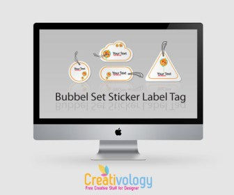 Freebies Sticker Set Label Tag
