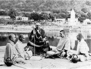 Swami Venkatesananda, Swami Krishnananda, Swami Chidananda, Swami Satchidananda.