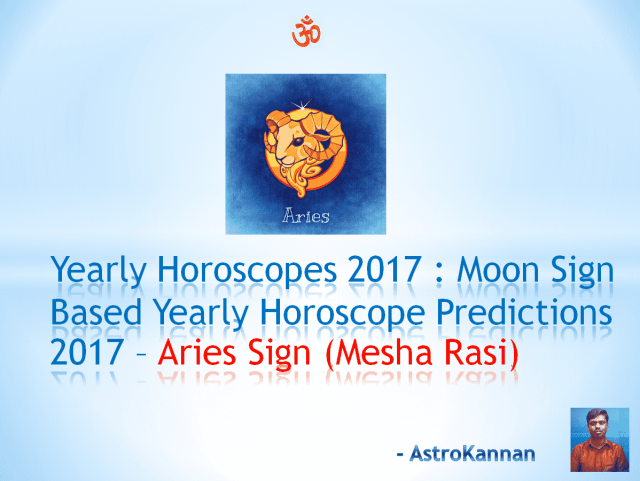 Yearly Horoscopes 2017 | 2017 Aries HOROSCOPE / 2017 Mesha HOROSCOPE | 2017 New Year Rasi Palangal Mesha Rasi