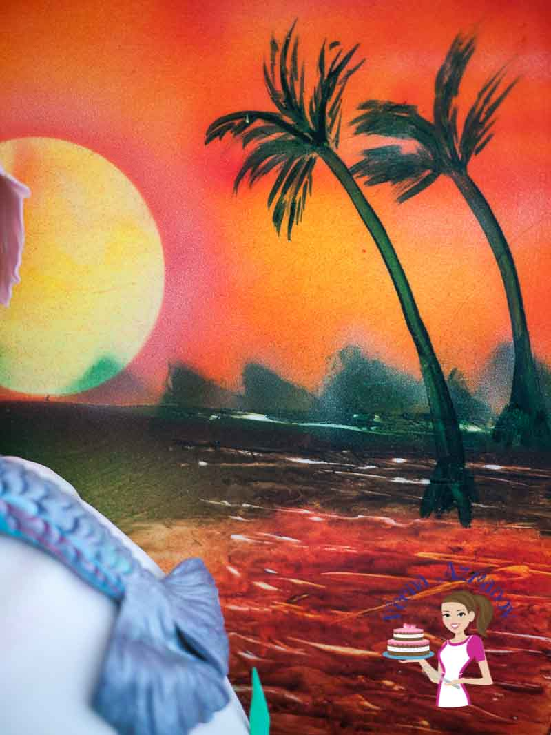 Sad Little Girl Wallpaper Seashell Mermaid Sunset Cake Veena Azmanov