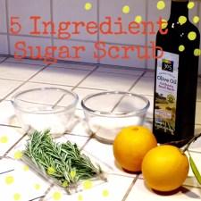 5 Ingredient Sugar Scrub