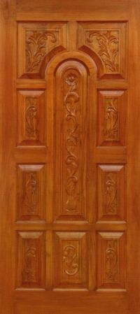 Teakwood Door & Flat Teak Wood Main Door Models Designs