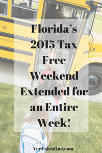 Florida's Tax Free Weekend Extended for