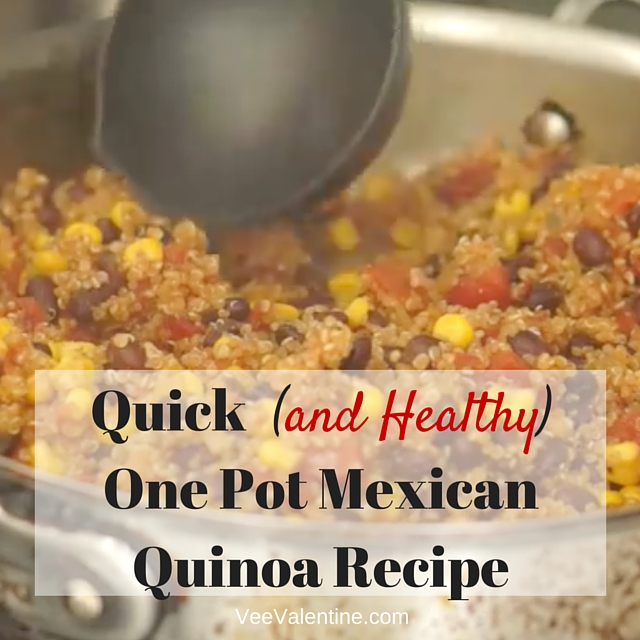 Quick (and Healthy) One Pot Mexican Quinoa Recipe