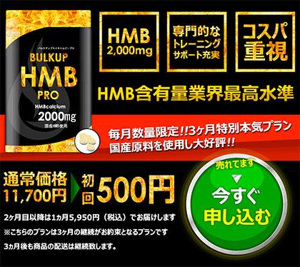 バルクアップHMBプロの「公式サイト」での値段は?