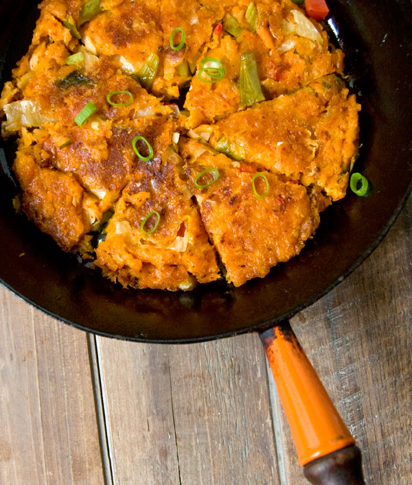 Paleo Kimchi Jun (Kimchi Pancake) and Dipping Sauce
