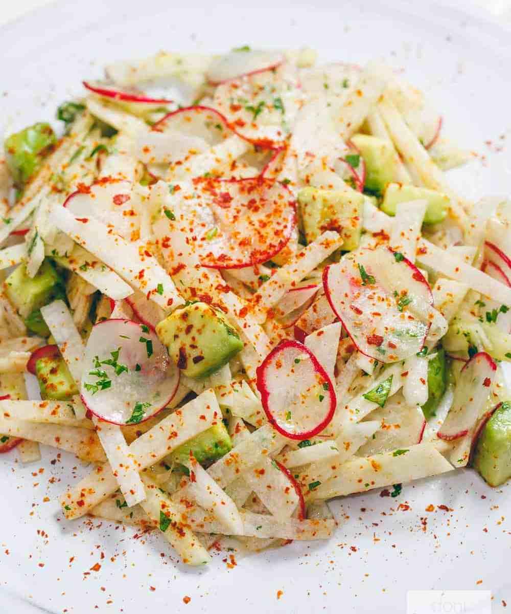 Jicama Avocado Radish Salad