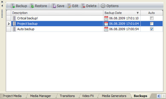 Vegasaur Project Backups Automatic backup and Autosave solution for