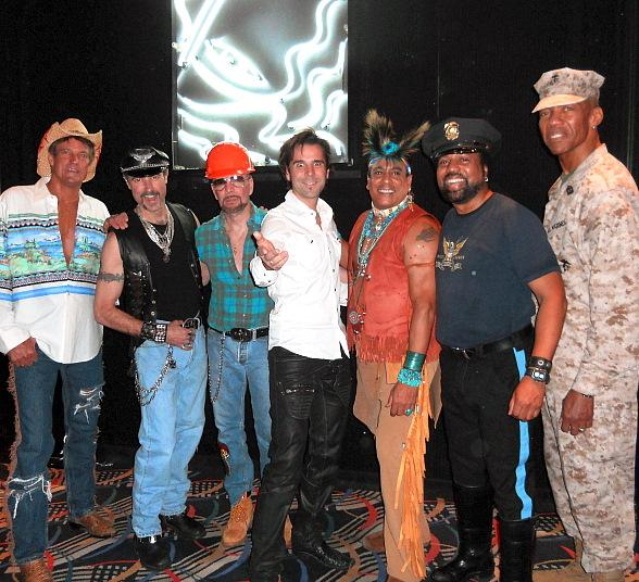 Tivoli Village Reindeer Illusionist Jan Rouven Attends Village People Concert At