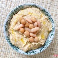 White bean, chickpea and yuzu hummus