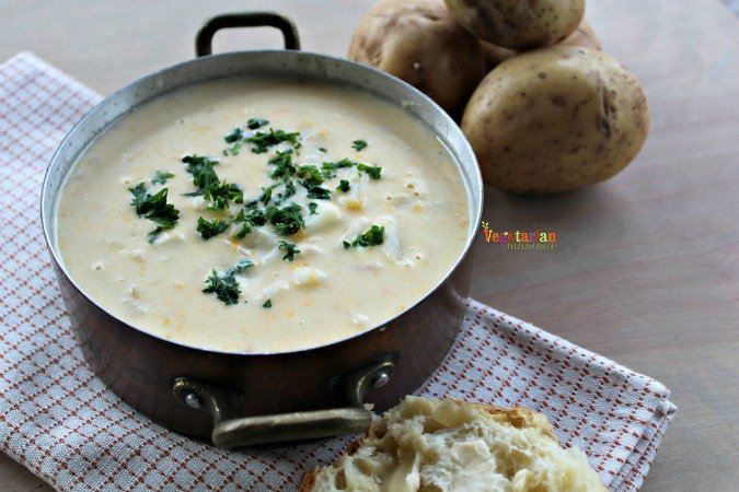 Rustic Potato Soup – Soup is ready! Grab a bowl!