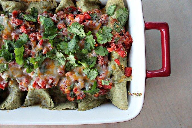 Gooey Enchiladas – Vegetarian + Gluten-Free