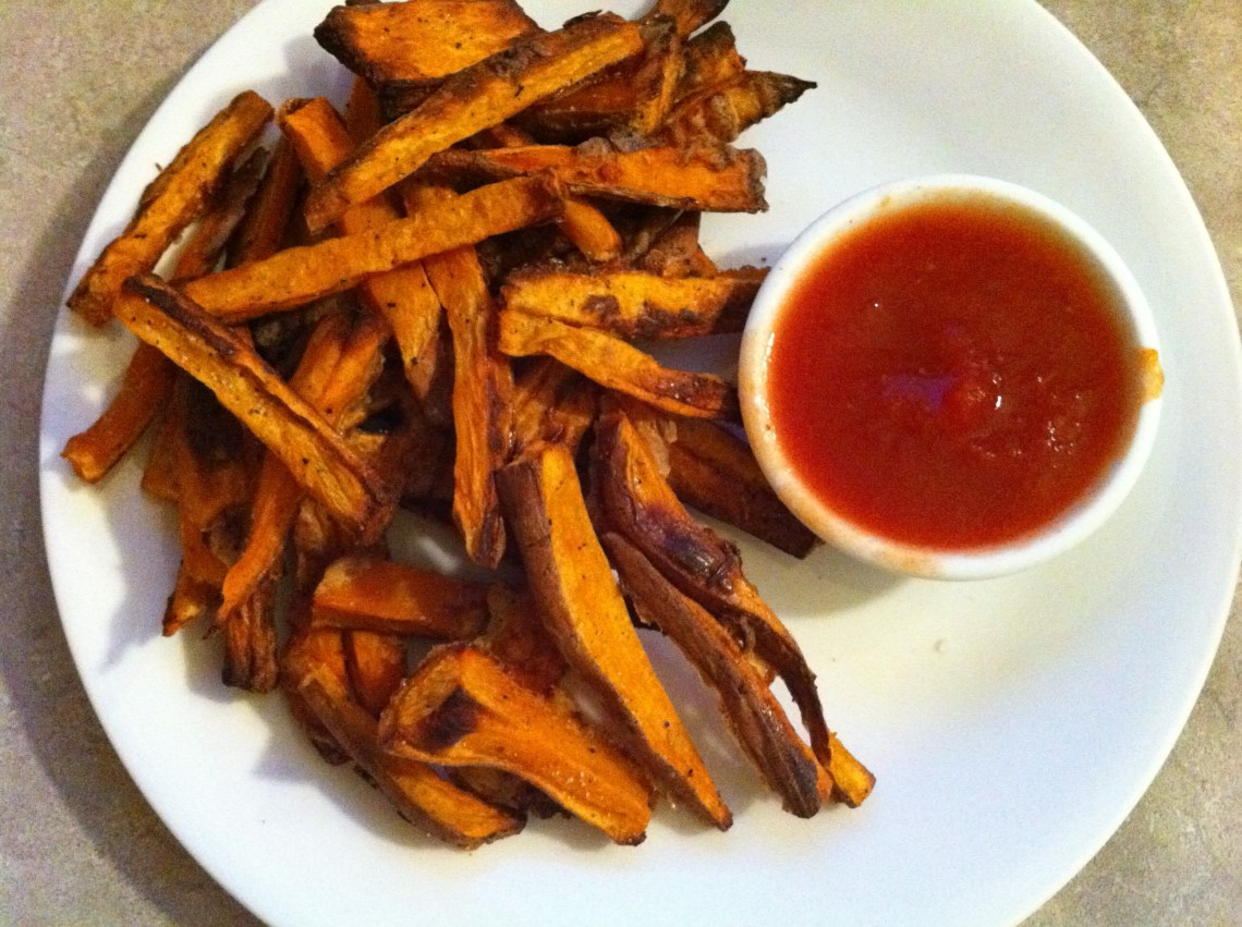DIY Ketchup with Crispy Sweet Potato Fries