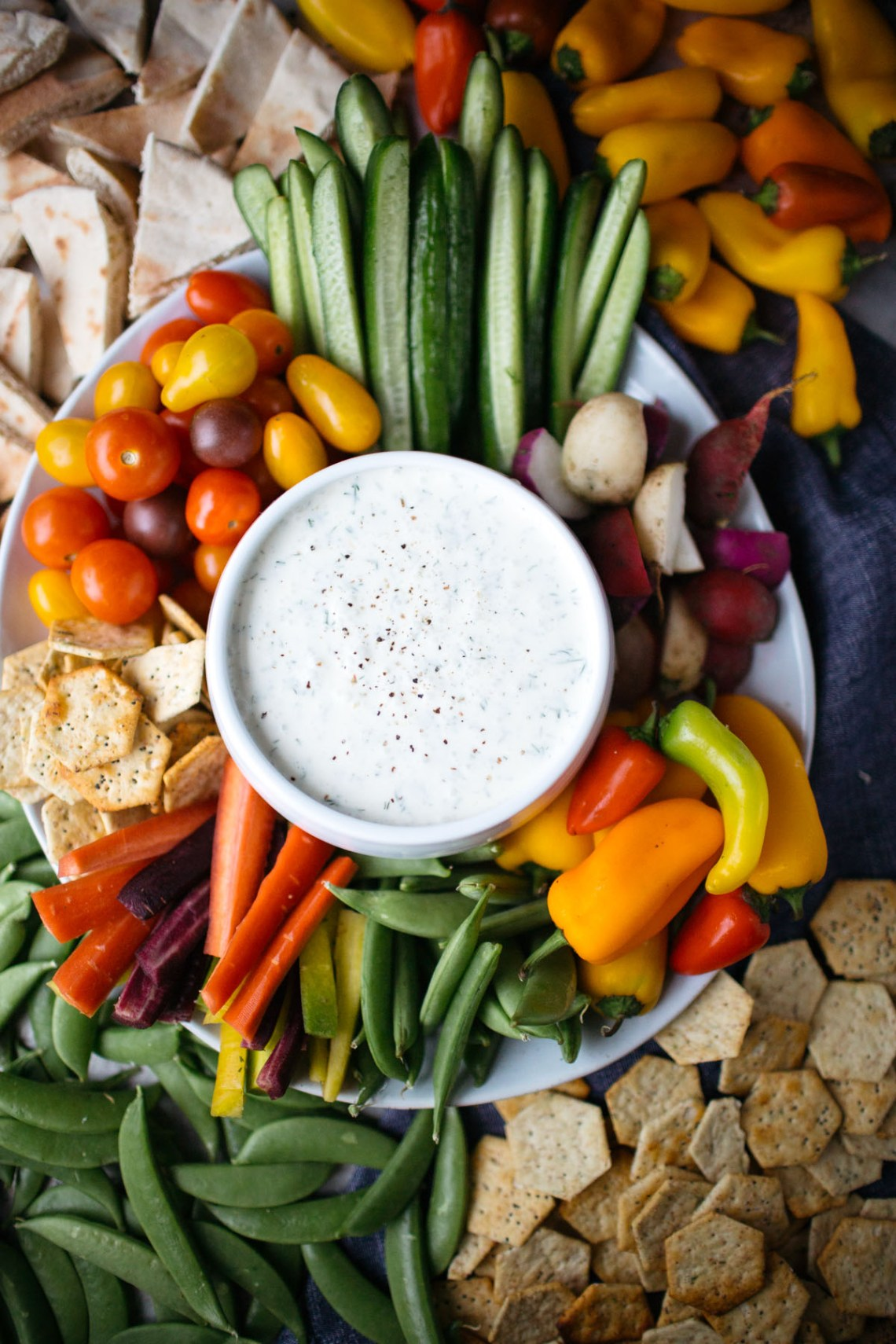 Dill Buttermilk Dip with Winter Crudites