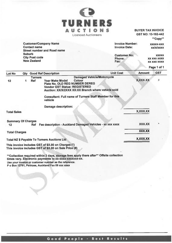 invoice email sample