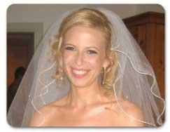 Scalloped bridal veil