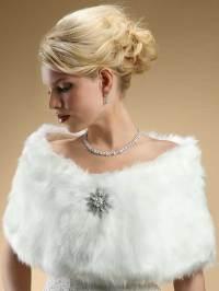 Faux Fur Wraps Evening Shawls Stole Shrug Winter Wedding ...