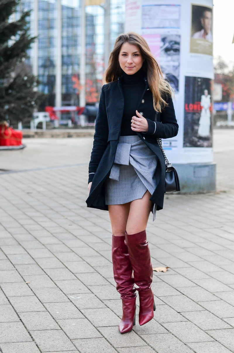 Outfit Mit Rock Winter Zara All Everything :: Military Jacke & Meine Roten Boots